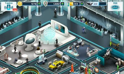 Screenshots of the Men in Black 3 for Android tablet, phone.