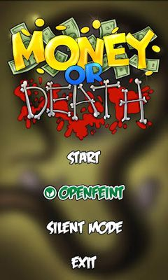Screenshots of the Money or Death for Android tablet, phone.