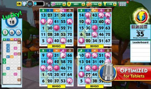 Screenshots of the MONOPOLY: Bingo for Android tablet, phone.