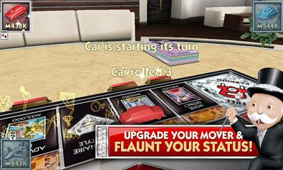 Screenshots of the MONOPOLY Millionaire for Android tablet, phone.