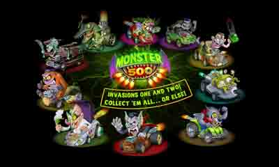 Screenshots of the Monster 500 for Android tablet, phone.