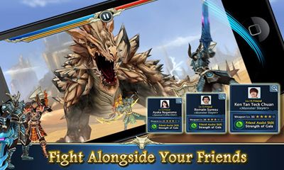 Screenshots of the Monster Blade for Android tablet, phone.