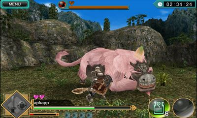 Screenshots of the Monster Hunter Dynamic Hunting for Android tablet, phone.
