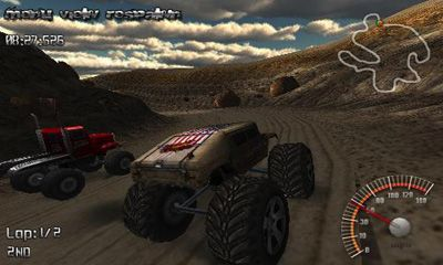 Screenshots of the Monster Truck Rally for Android tablet, phone.