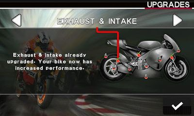 Screenshots of the Moto GP 2012 for Android tablet, phone.