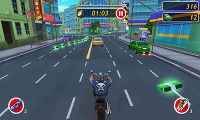 Screenshots of the Moto Locos for Android tablet, phone.