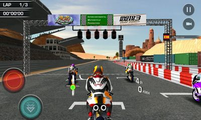 Screenshots of the Moto Racer 15th Anniversary for Android tablet, phone.