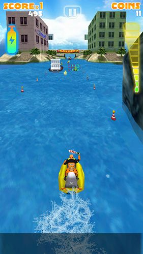 Screenshots of the Мotoboat racing: Crash for Android tablet, phone.
