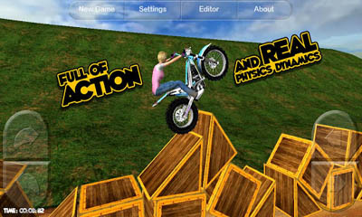 Screenshots of the Motorbike for Android tablet, phone.