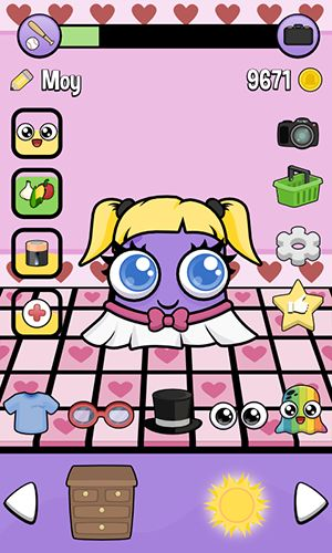 Screenshots of the Moy 2: Virtual pet game for Android tablet, phone.