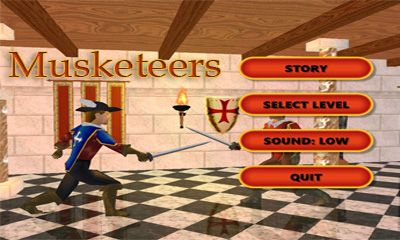 Screenshots of the Musketeers for Android tablet, phone.