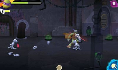 Screenshots of the Mutant Rumble for Android tablet, phone.