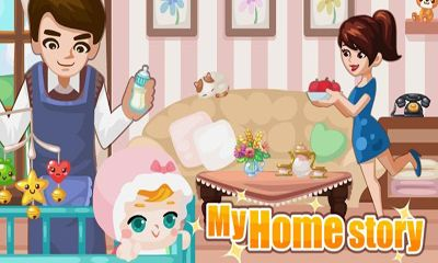 Screenshots of the My Home Story for Android tablet, phone.
