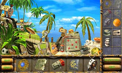 Screenshots of the Mystery Island for Android tablet, phone.