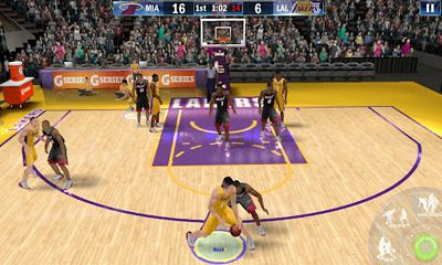 Screenshots of the NBA 2K13 for Android tablet, phone.