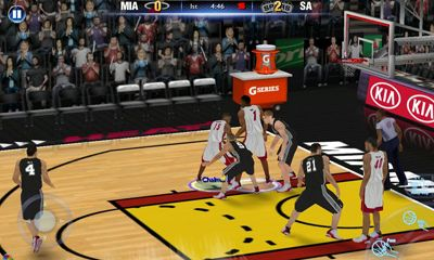 Screenshots of the NBA 2K14 for Android tablet, phone.