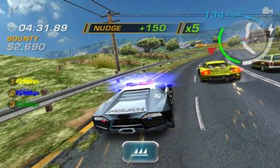 Screenshots of the Need for Speed Hot Pursuit for Android tablet, phone.