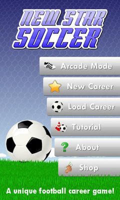 Screenshots of the New Star Soccer for Android tablet, phone.
