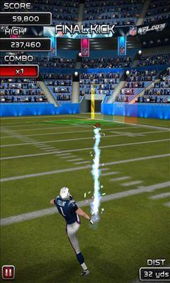 Screenshots of the NFL Kicker 13 for Android tablet, phone.