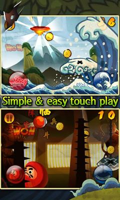 Screenshots of the Ninja Bounce for Android tablet, phone.