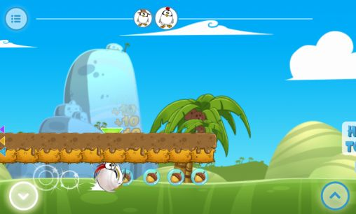 Screenshots of the Ninja chicken multiplayer race for Android tablet, phone.