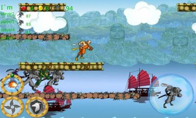 Screenshots of the Ninja Run Online for Android tablet, phone.