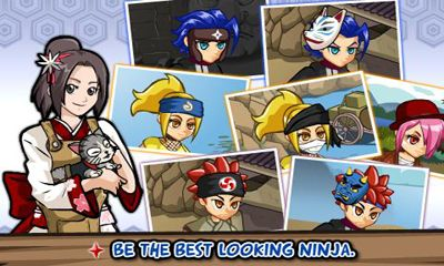 Screenshots of the Ninja Saga for Android tablet, phone.