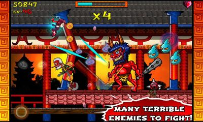 Screenshots of the Ninja Slash! for Android tablet, phone.