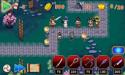 Screenshots of the Ninja Tower Defense for Android tablet, phone.