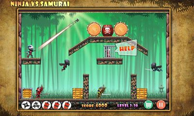 Screenshots of the Ninja vs Samurais for Android tablet, phone.