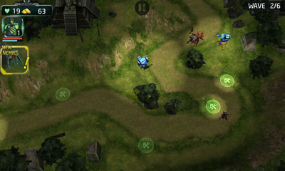 Screenshots of the Nova Defence for Android tablet, phone.