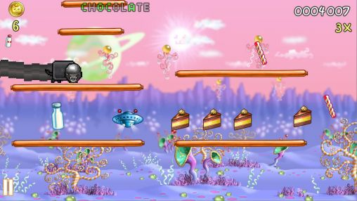 Screenshots of the Nyan cat: Lost in space for Android tablet, phone.