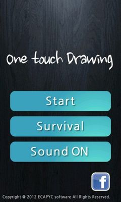 Screenshots of the One touch Drawing for Android tablet, phone.