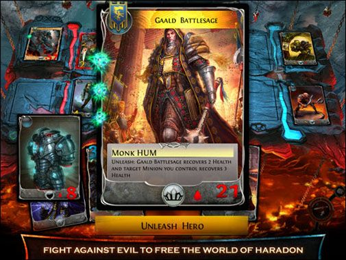 Screenshots of the Order & Chaos: Duels for Android tablet, phone.