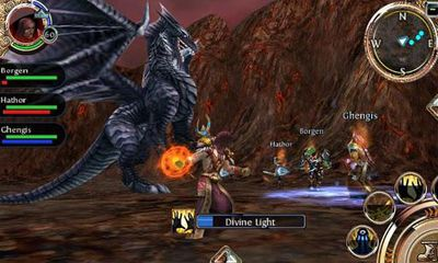 Screenshots of the Order & Chaos Online for Android tablet, phone.