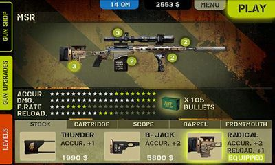 Screenshots of the Overkill for Android tablet, phone.