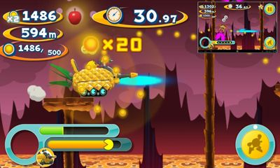 Screenshots of the Pac-Man Dash! for Android tablet, phone.