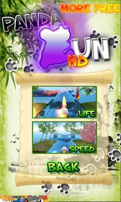 Screenshots of the Panda Run HD for Android tablet, phone.