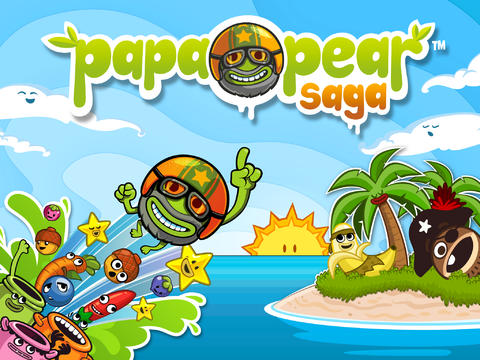 Screenshots of the Papa Pear: Saga for Android tablet, phone.