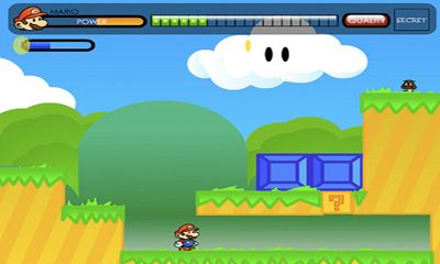 Screenshots of the Paper World Mario for Android tablet, phone.