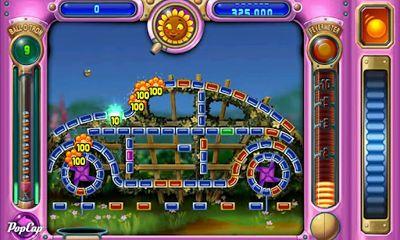 Screenshots of the Peggle for Android tablet, phone.
