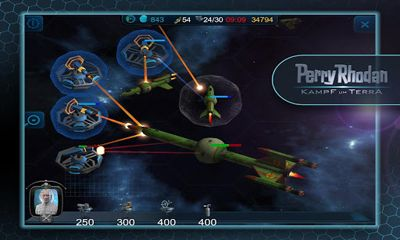 Screenshots of the Perry Rhodan: Kampf um Terra for Android tablet, phone.
