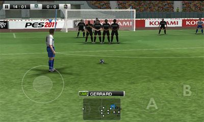 Screenshots of the PES 2011 Pro Evolution Soccer for Android tablet, phone.