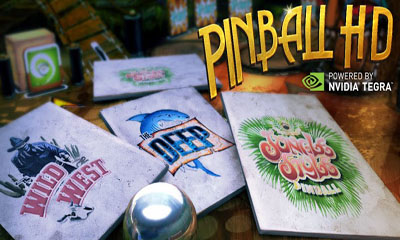 Screenshots of the Pinball HD for Android tablet, phone.