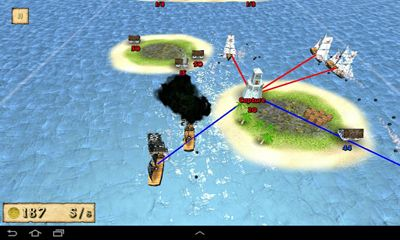 Screenshots of the Pirates! Showdown for Android tablet, phone.