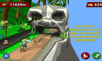 Screenshots of the PITFALL! for Android tablet, phone.