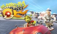 In addition to the game Penguin Run for Android phones and tablets, you can also download Planet 51 Racer for free.