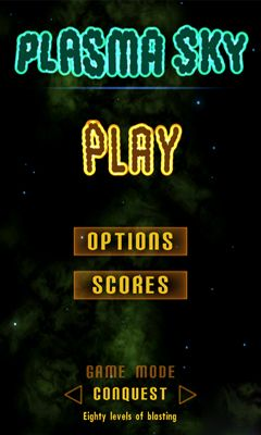Screenshots of the Plasma Sky - rad space shooter for Android tablet, phone.