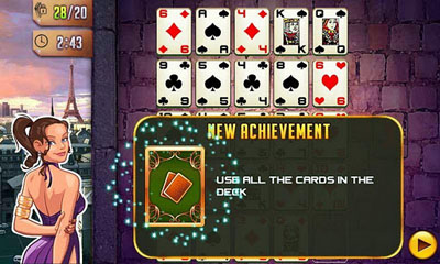Screenshots of the Platinum Solitaire 3 for Android tablet, phone.