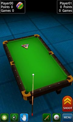 Screenshots of the Pool Break for Android tablet, phone.